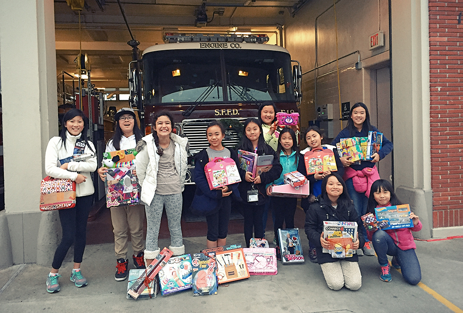ulloa youth at fire station