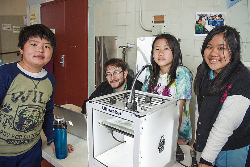 apg youth with 3dprinter